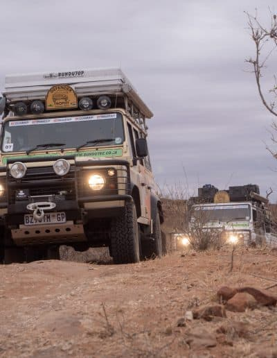 4. Convoy entering Mapungubwe NP
