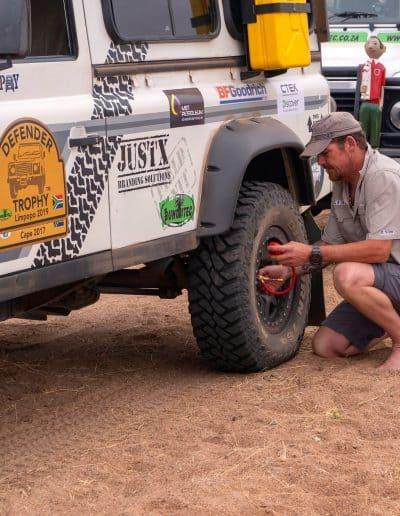 7. Deflate tyres